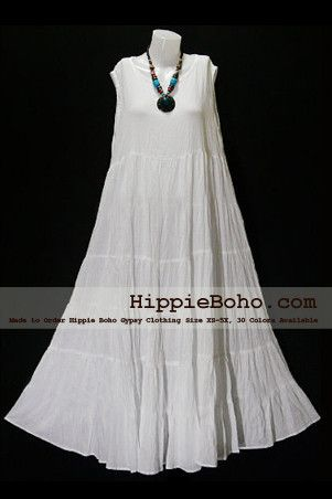 982c6941571 No.005 - Plus Size White Cotton Maxi Long Dress Bohemian Summer Clothing  Tiered Full Length Women s Dress Hippie Boho Gypsy Style