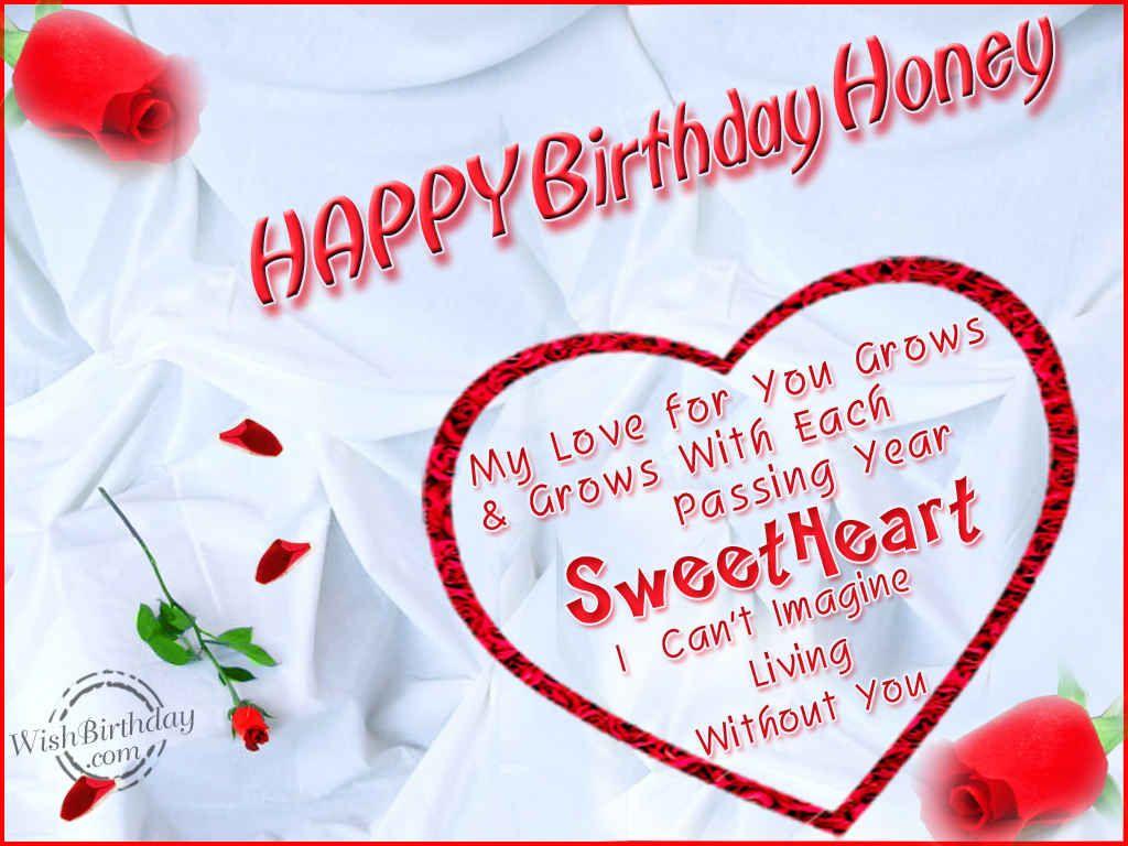 Happy Birthday Honey Happy Birthday Love Birthday Wishes For Wife Birthday Wish For Husband
