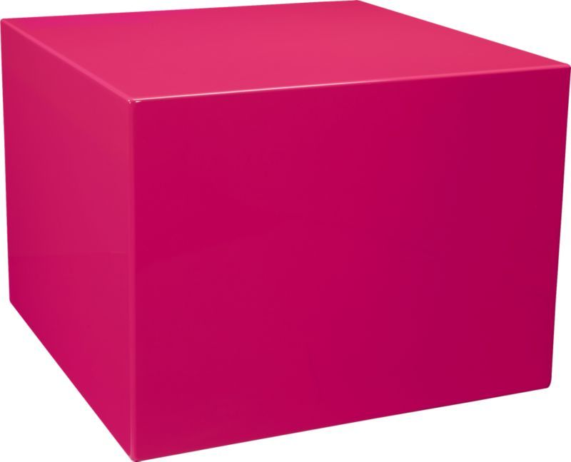 city slicker neon pink side table | CB2 | Furniture! | Pinterest ...