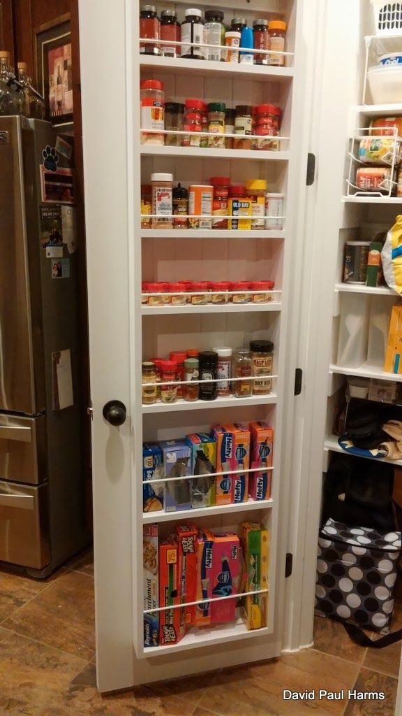 door hanging spice rack pantry door