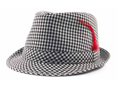 008380ba2cfc9 LIDS Private Label PL Houndstooth Fedora Hats