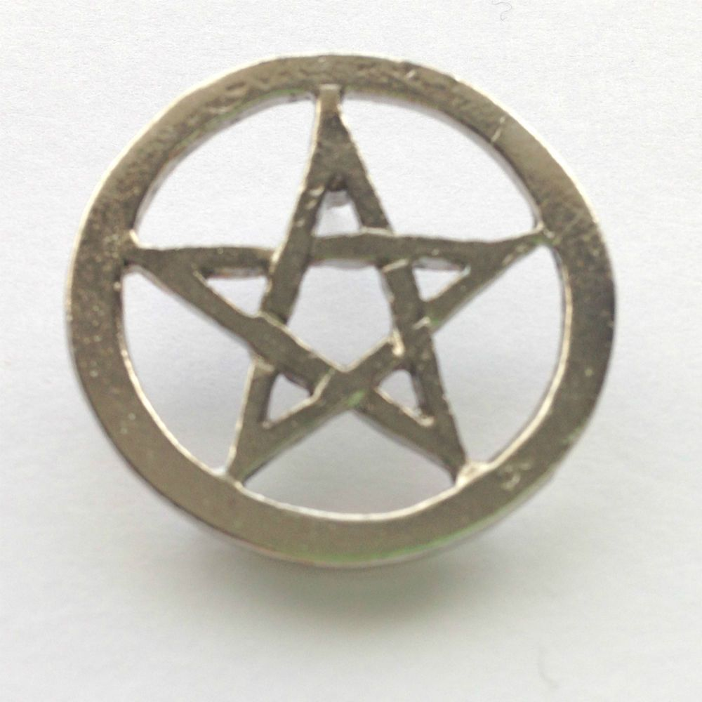 Pentacle Pin Badge Pagan Witch Pentagram Wiccan