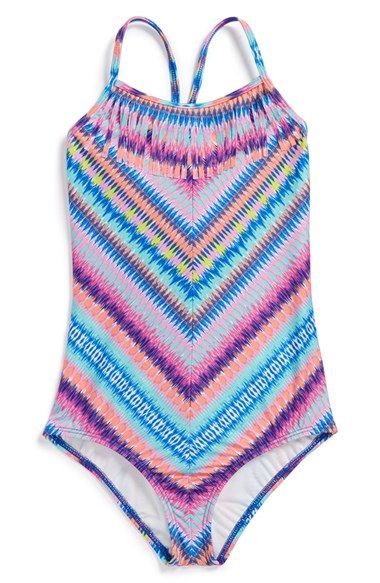 Ella Moss Girl 'Festival' One-Piece Swimsuit (Big Girls) available at #Nordstrom