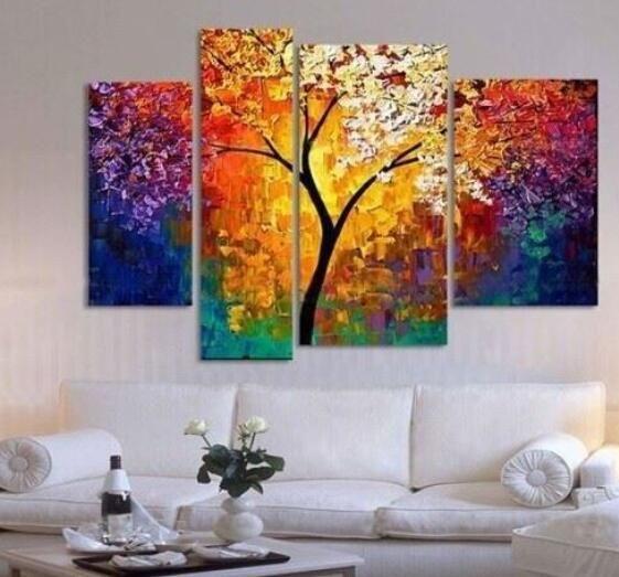 handbemalte Ölgemälde spachtel gemälde für Wohnzimmerwand große - wohnzimmer bilder abstrakt
