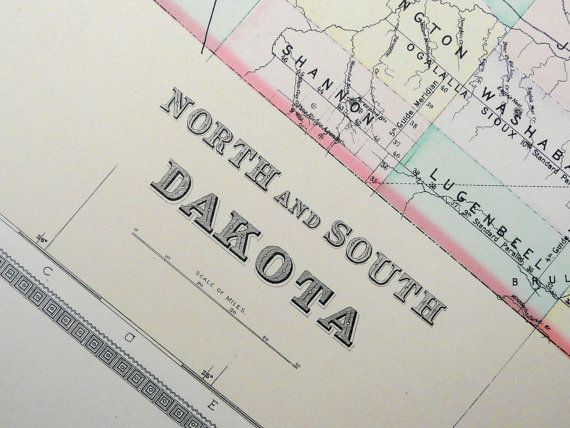 1889 Large antique map of NORTH and SOUTH by AntiquePrintsOnly, $24.00
