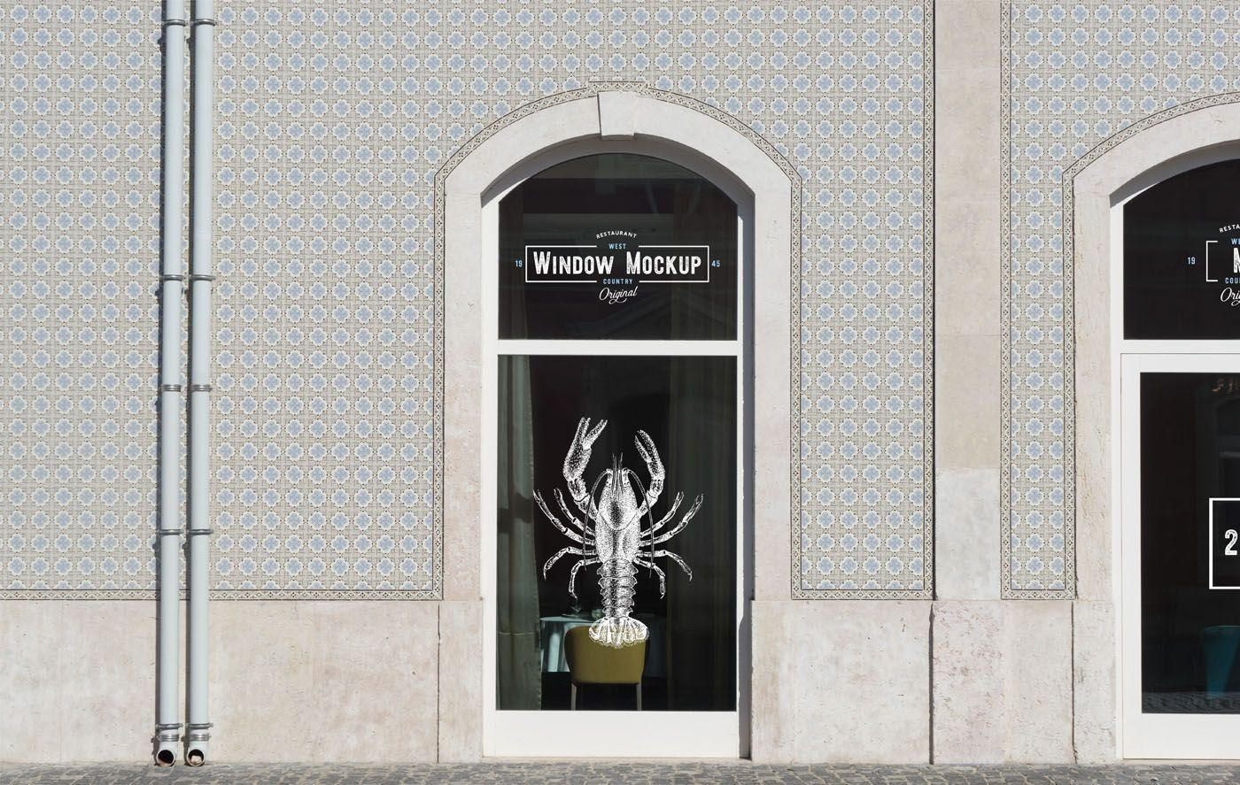 Free Shop Window Mockup In 2020 Mockup Free Mockup Shop Window
