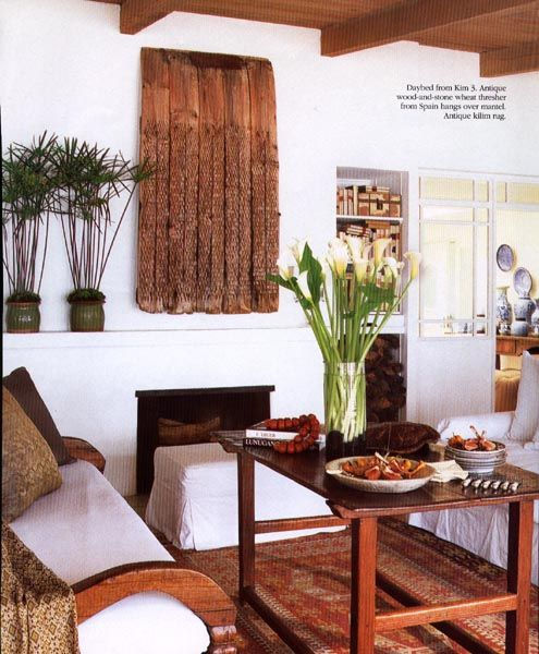 Antique Guatemalan tavern coffee table Interior design by Michael