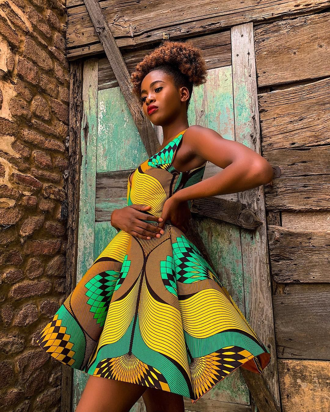 Ankara Headscarf Inspiration For Natural Hair And Ways To Style Them African Print Dresses African Fashion African Fashion Dresses [ 1349 x 1080 Pixel ]