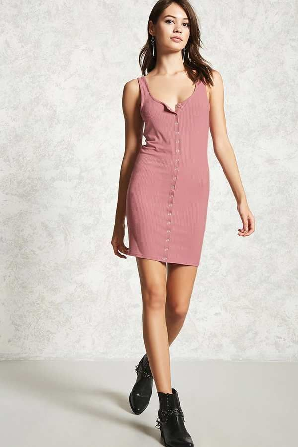Forever 21 Snap Button Tank Dress