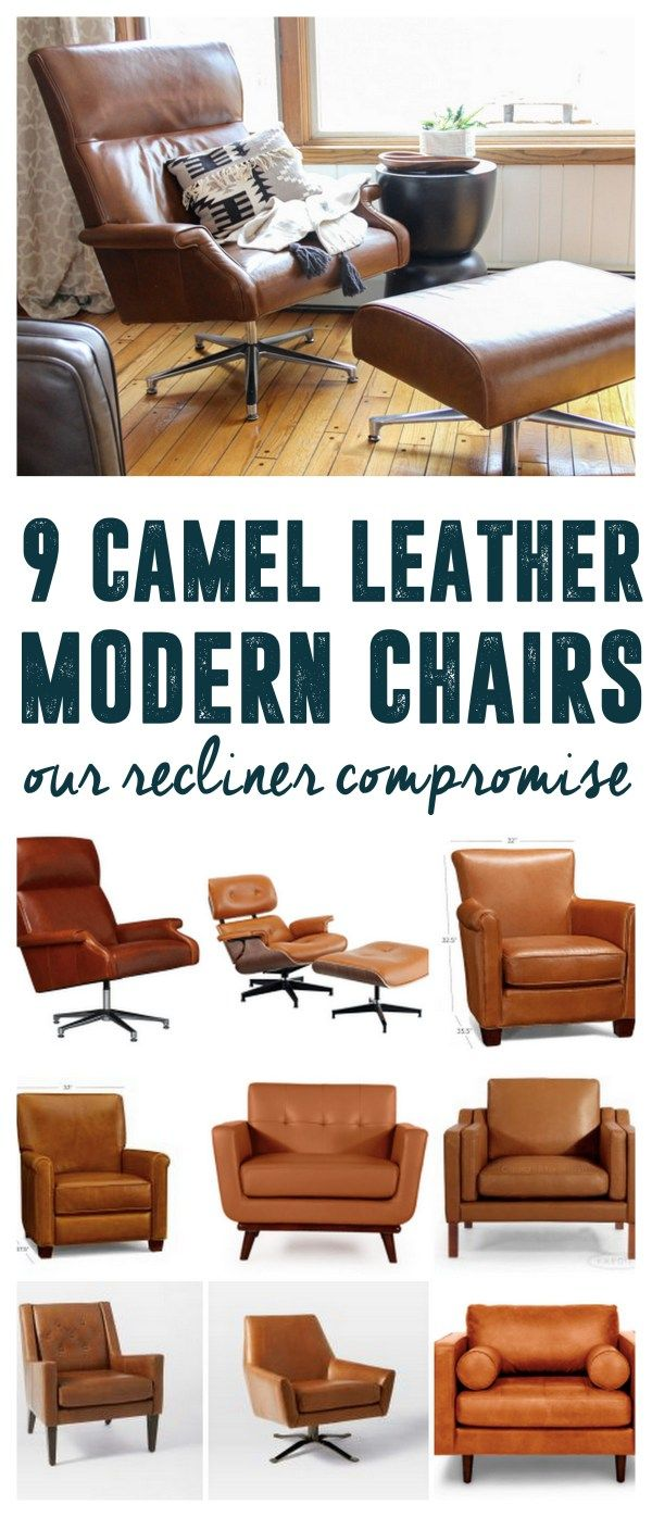 The Perfect Camel Leather Armchair Modern Chairs Modern Living - Comfy leather armchair for readers