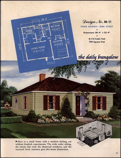 The Daily Bungalow 1948 Modern Small Homes On Flickr Small House Sims House Plans Vintage House Plans