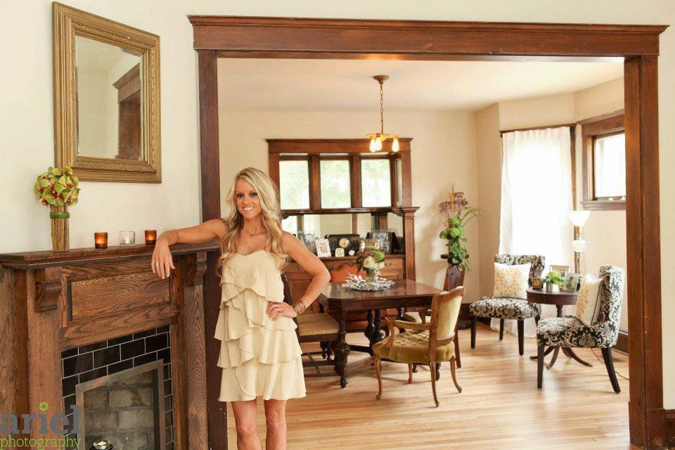 Nicole Curtis Rehab Addict -Dollar House- AFTER Photography. Oh how I love  the beautiful woodwork in old houses. Such a shame that people paint over  it ...