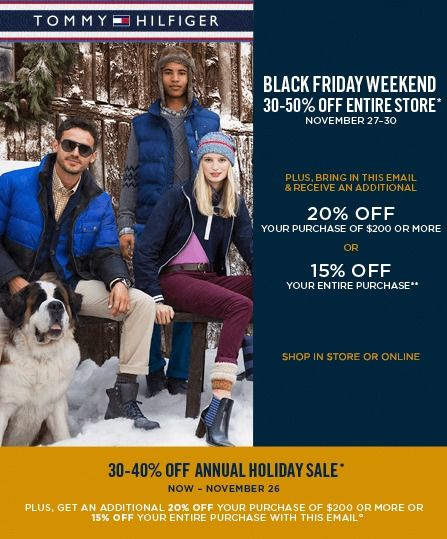 5247a7e4 Check out the Tommy Hilfiger Black Friday Sales and discount up to 50% off  on their all cloths.