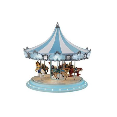 Free Shipping Buy Mr Christmas Animated Musical Frosted Carousel - christmas carousel decoration