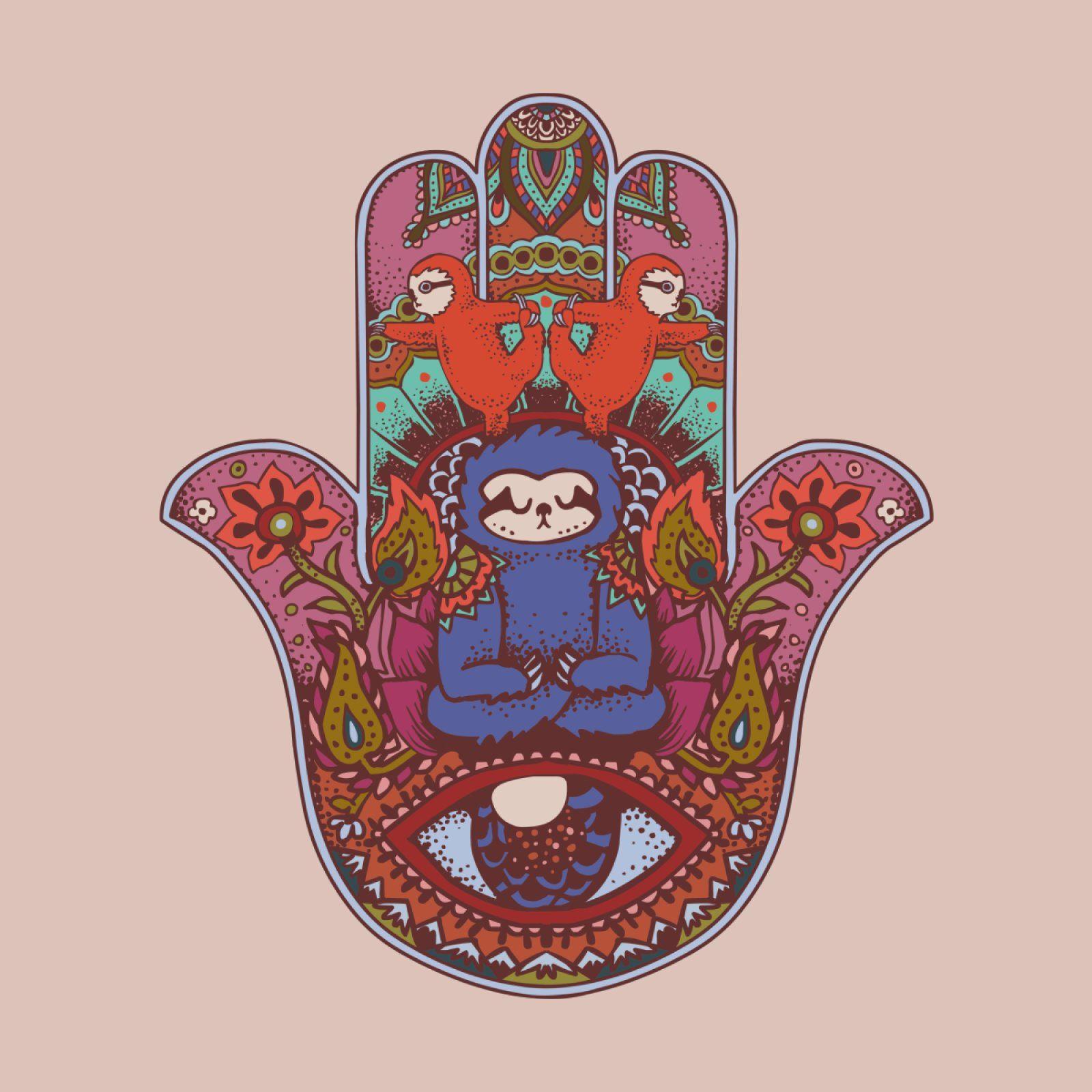 5f5fcec43 Hamsa Sloth T-Shirt by huebucket's Artist Shop ...