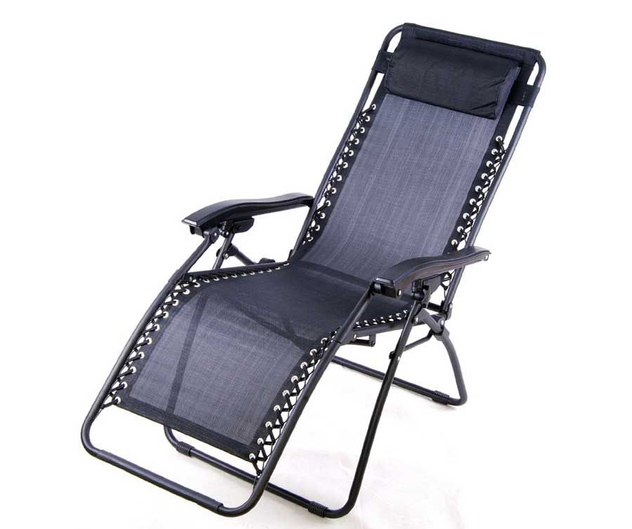 Outsunny Zero Gravity Recliner Lounge Patio Pool Chair In Black