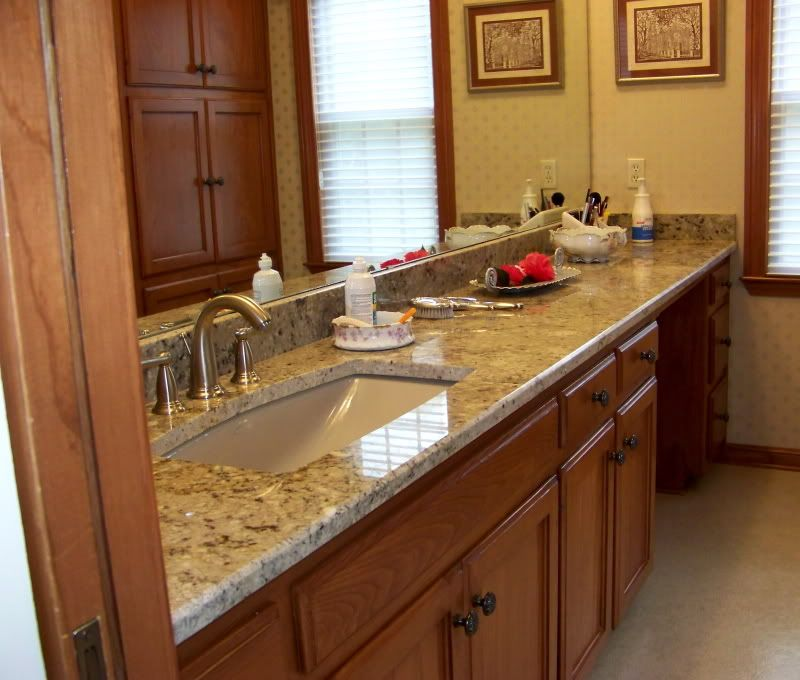 One Large Sink W Long Counter And Makeup Area With Images