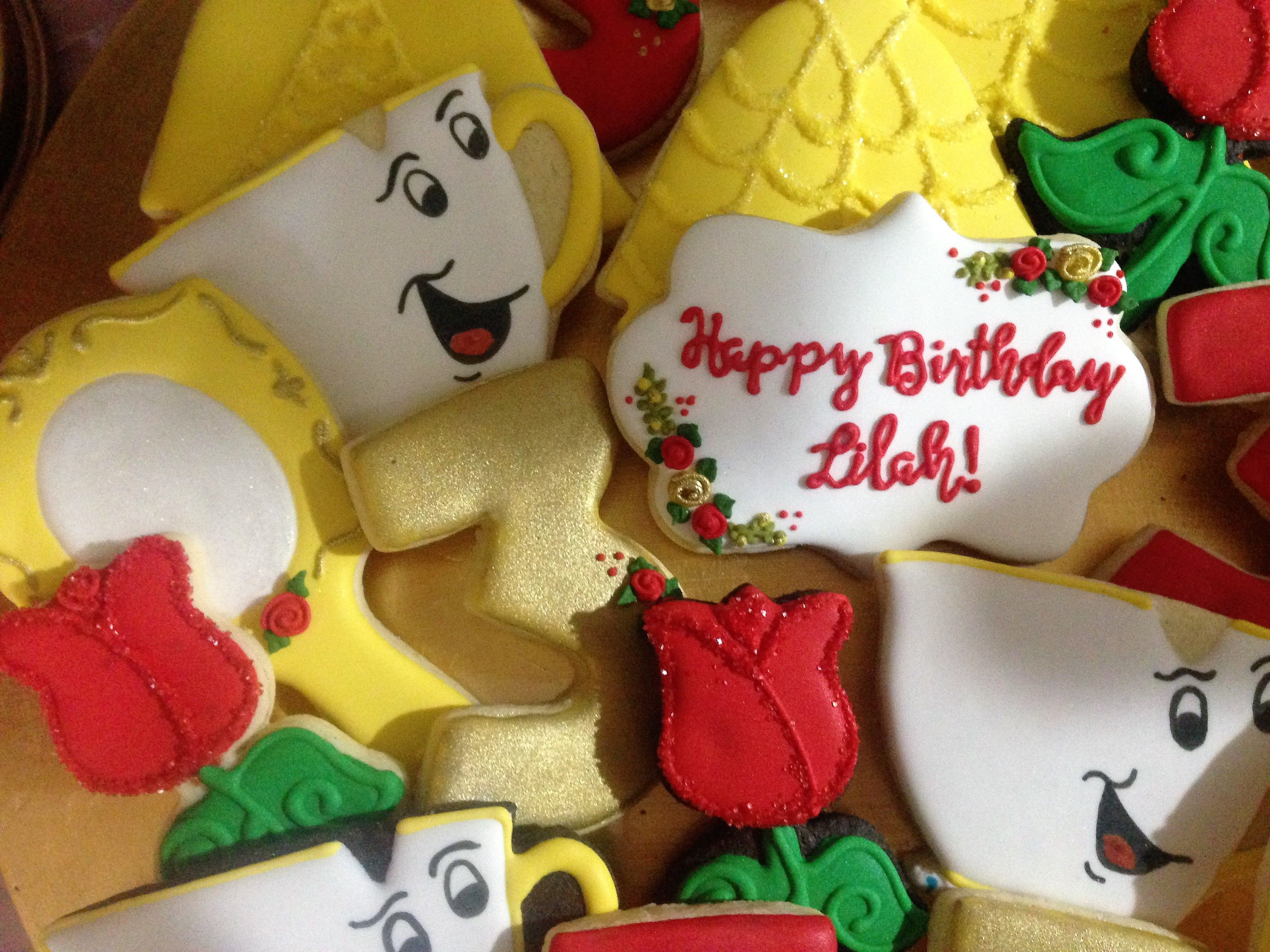 Belle theme cookies for my granddaughters birthday