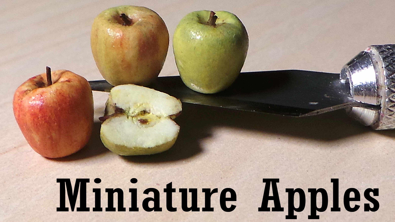 easy miniature apple polymer clay tutorial diorama. Black Bedroom Furniture Sets. Home Design Ideas
