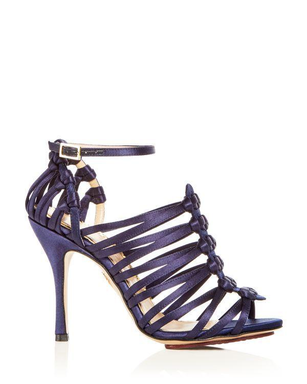 Charlotte Olympia Women's Diva Satin Strappy High-Heel Sandals