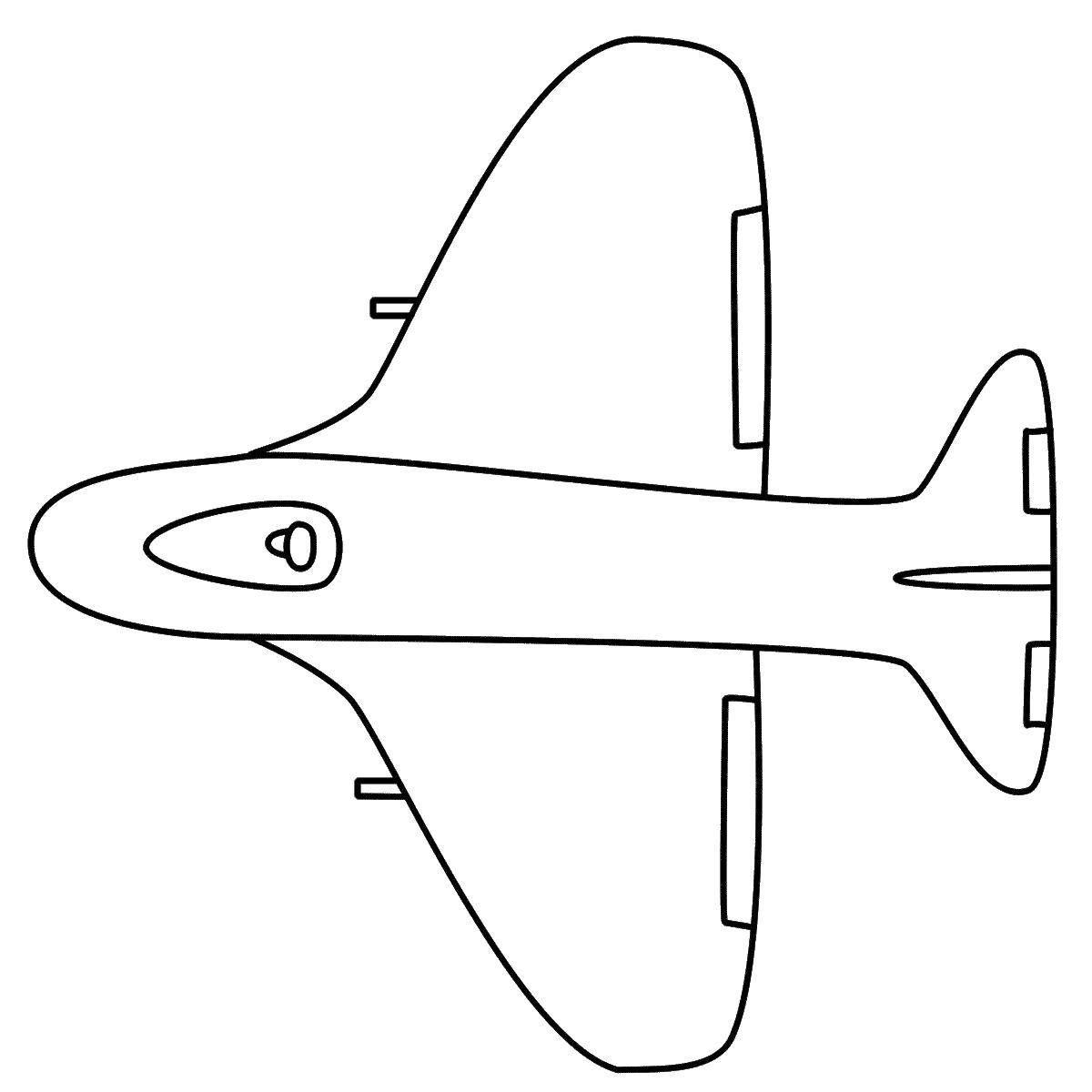 таким картинки как нарисовать самолет сверху увд