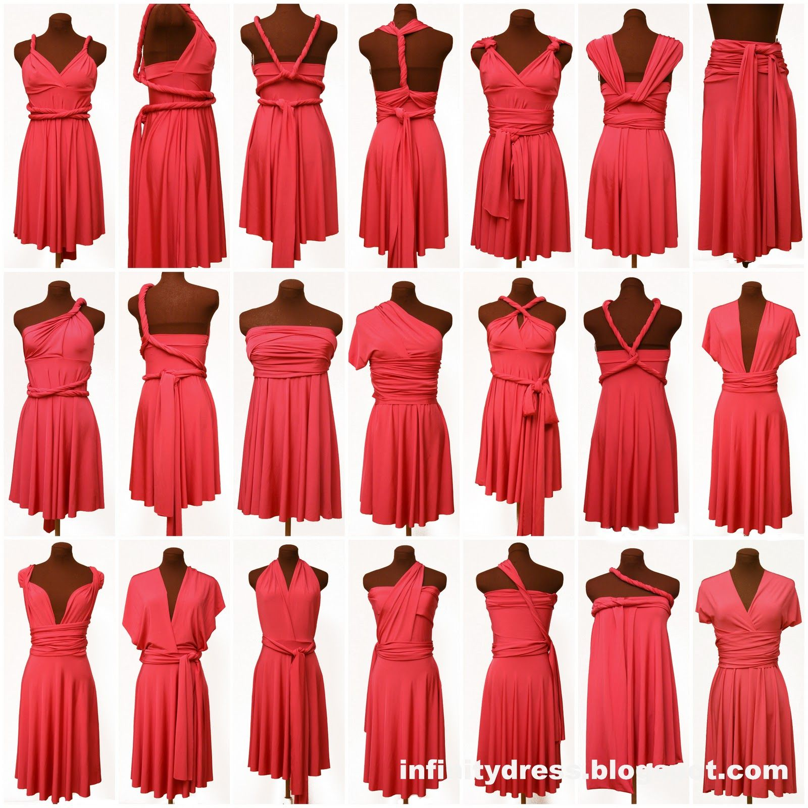 Bridesmaid Dresses -- You may consider the infinity dress; comes ...