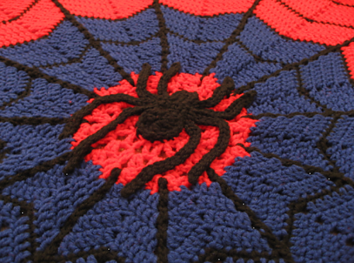 Ravelry: agamerswife\'s Spider-man Web Afghan | Crochet blankets ...