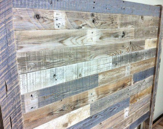 Cabeza de madera recuperada cabecera granero por JNMRusticDesigns ...