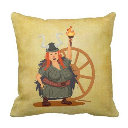 Women Vikings Rule Throw Pillow dorm decor college diy cyo