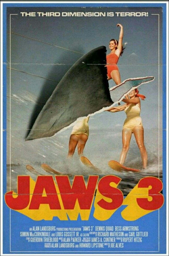 JAWS 3 | Movie posters | Haie, Filmplakate, Filme