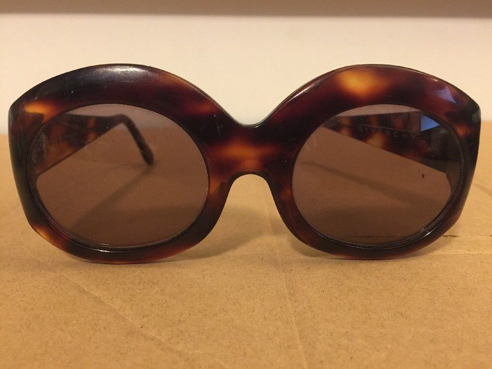 Givenchy vintage 1970s oversized brown tortoise sunglasses