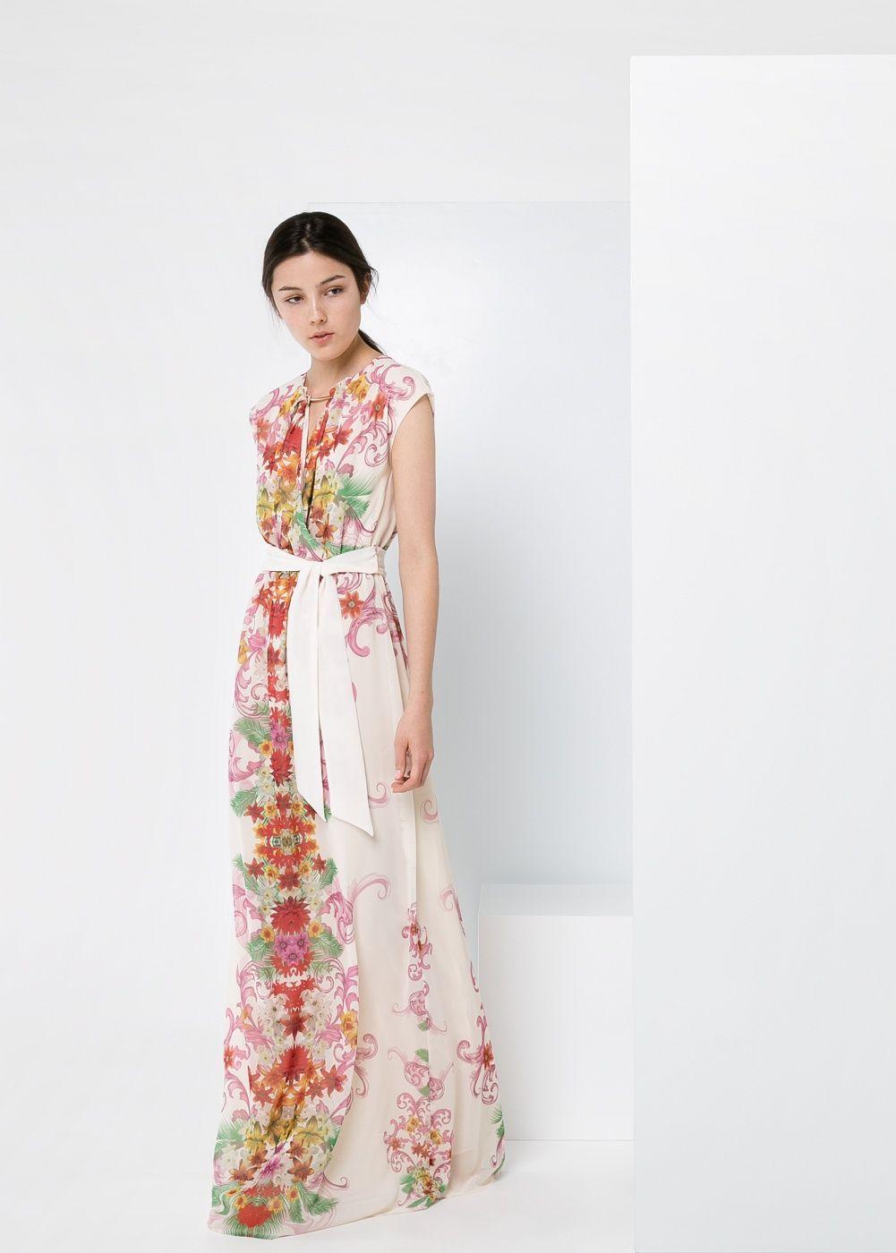 287d5c86bd Vestido largo floral - Mujer