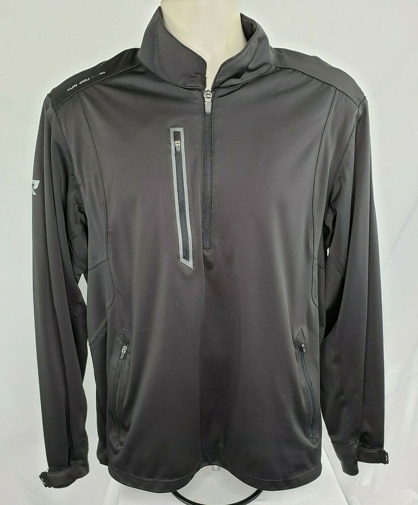Sun Mountain Rain 1 4 Zip Jacket Men S L Black Euc Ebay Mens Golf Outfit Zip Jackets Jackets