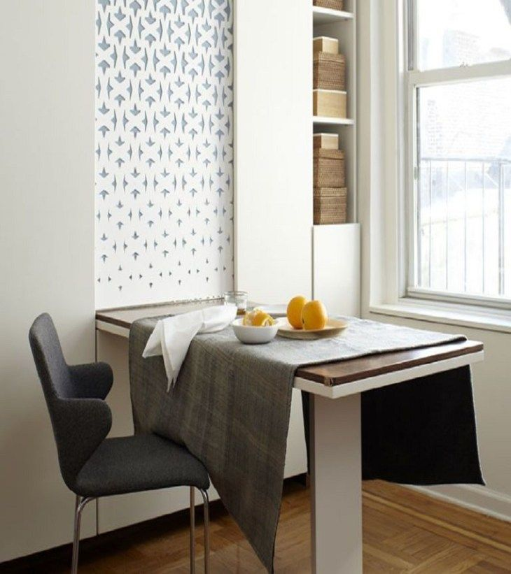 Dining Room Corner Decorating Ideas Space Saving Solutions: Precocious Solutions For Home With No Dining Room To Throw