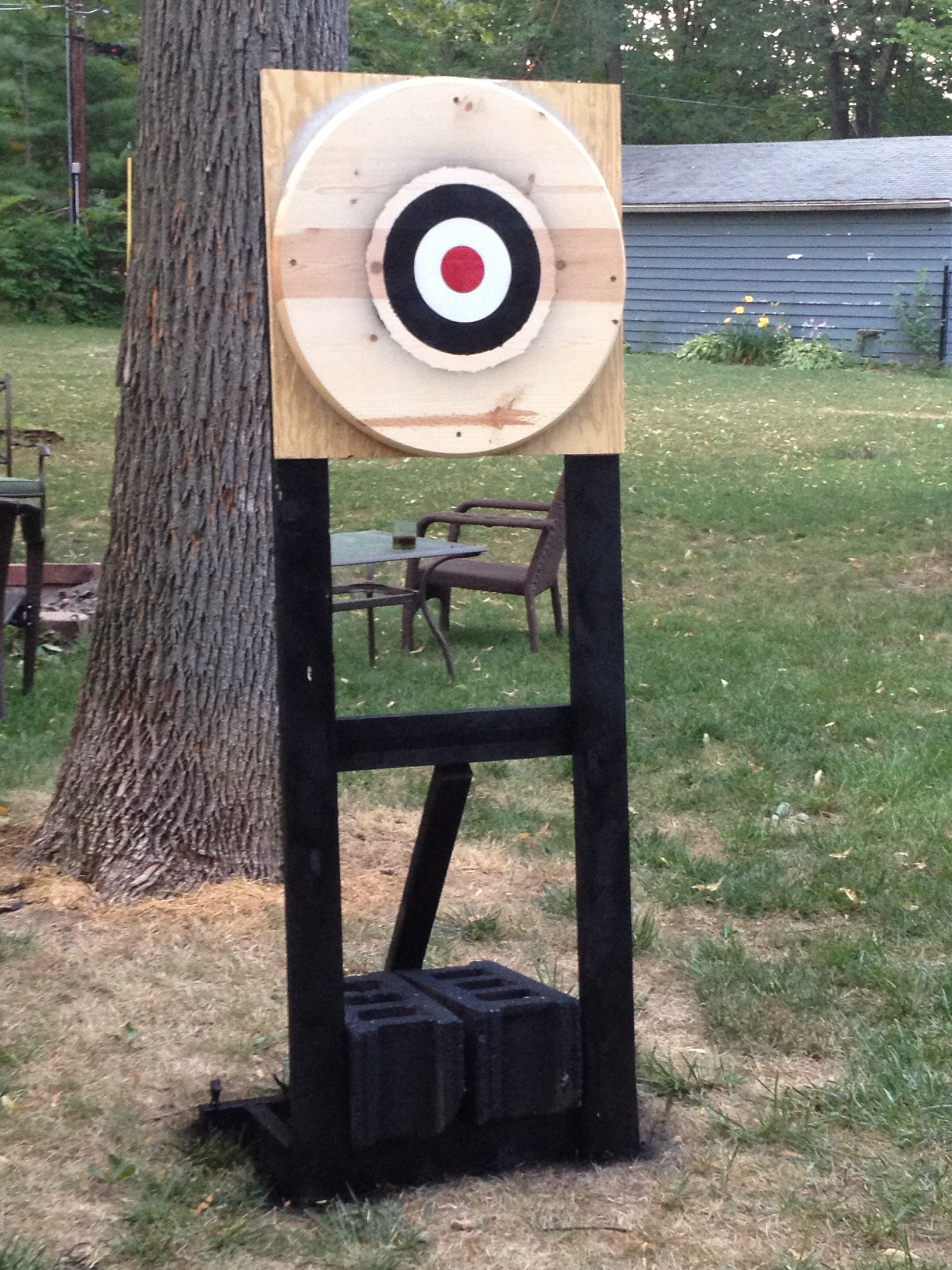 backyard throwing knife target built by me pinterest knives