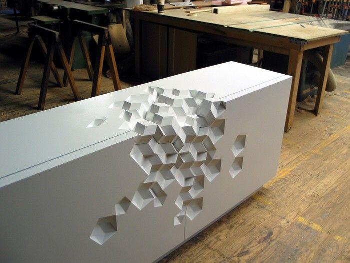 Geometric shaped furniture by Aranda/Lasch