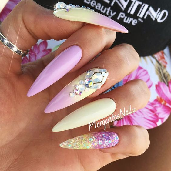 24 Pointy Nails Designs You Can\'t Resist To Copy | Pointy nails and ...