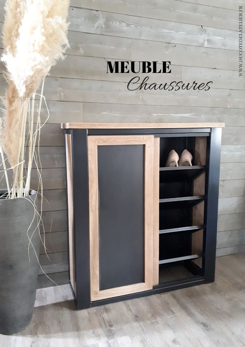 Meuble A Chaussures In 2020 Home Trash Can Canning