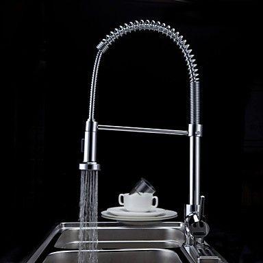 deckenmontiert Einhand Ein Loch with Chrom Armatur für die Küche - wasserhahn küche mit brause