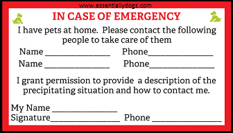 Related Image In Case Of Emergency Emergency Pet Safety