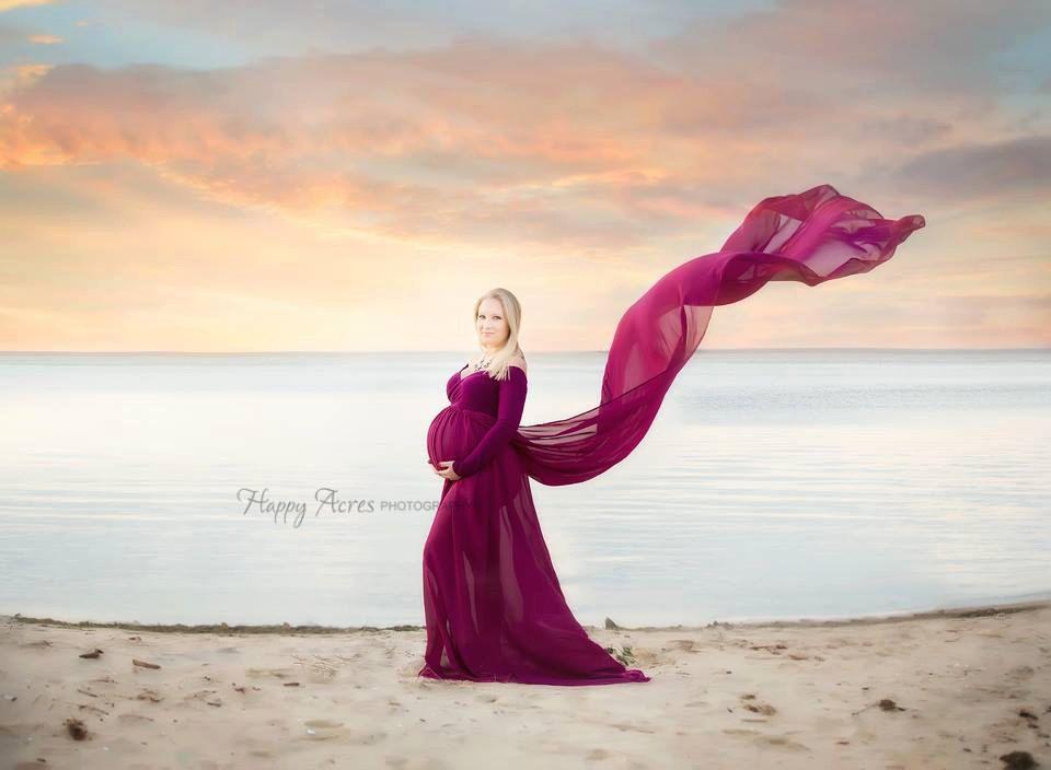 77e83421075 Josephina Chiffon Maternity Gown