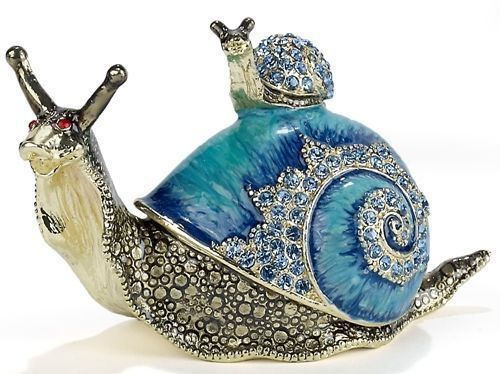 Kubla Crafts Bejeweled Oriole Songbird Mini Trinket Box Accented With Ebay Trinket Boxes Snail Snail Art