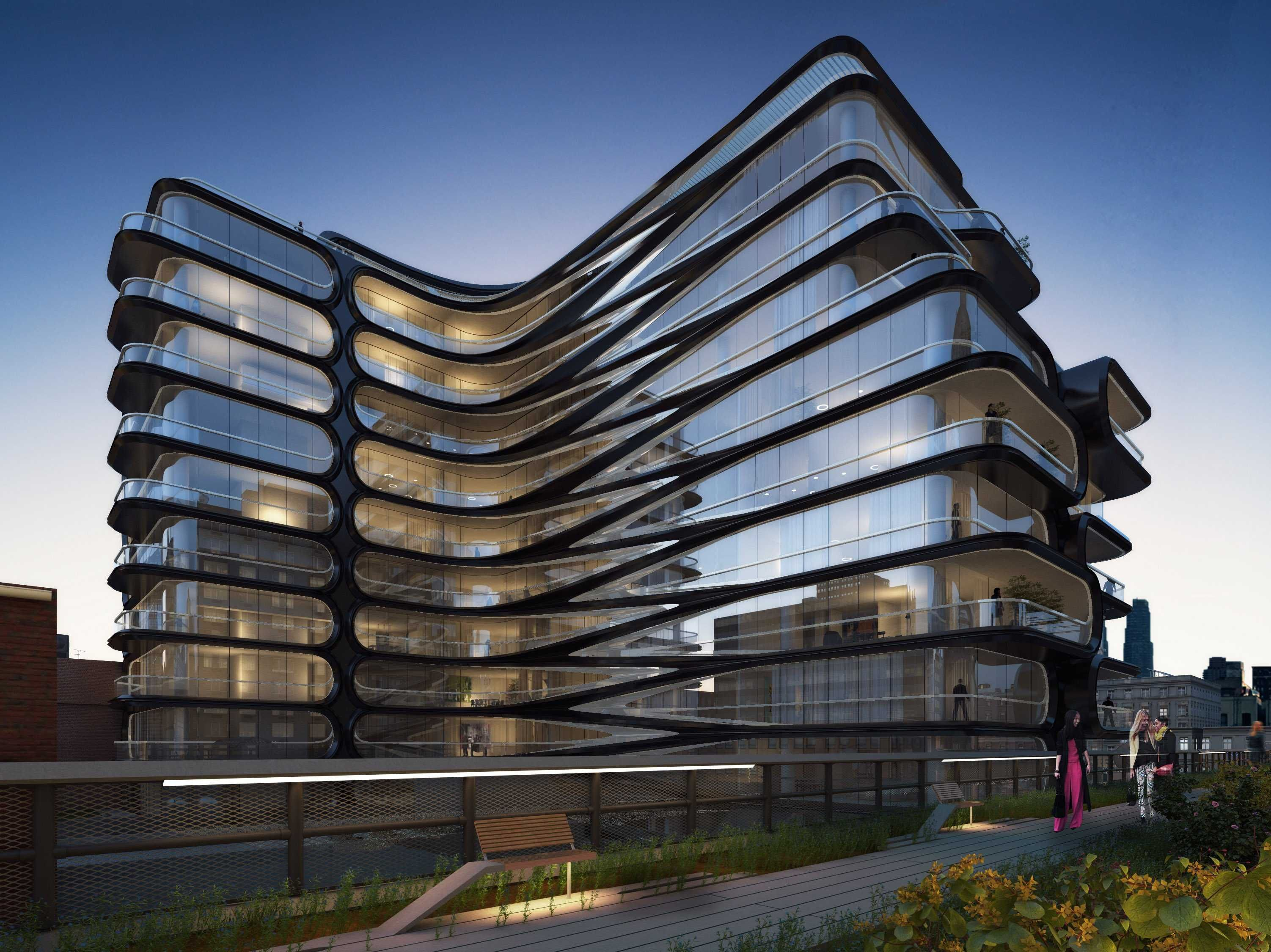 Famed Architect Zaha Hadid Unveils Her First Building In: modern house architect new york