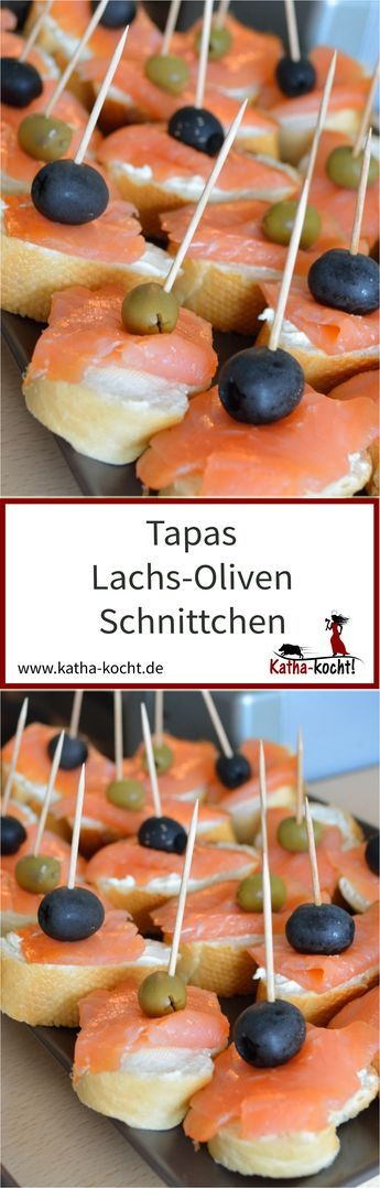 Tapas - Lachs-Oliven Schnittchen #fingerfoodappetizers