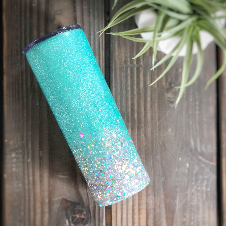 Custom made chunky glitter 20oz tumbler