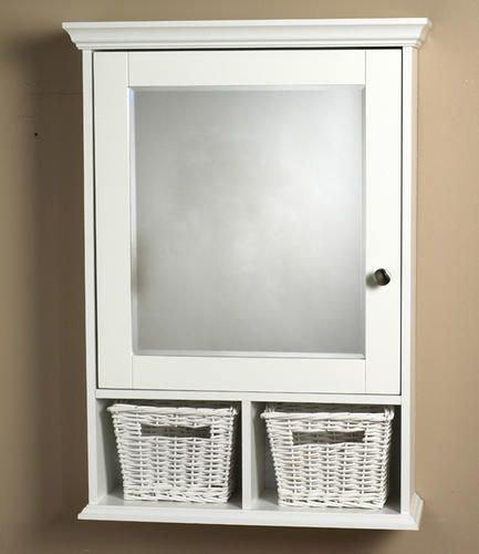 119 White Wood Med Cab With Baskets At Menards 20 75 Wide Wood Medicine Cabinets White Wood Medicine Cabinet Mirror