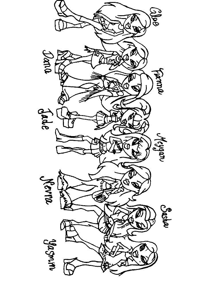 BRATZ COLORING bratz coloring pages 37 kids printables bratz