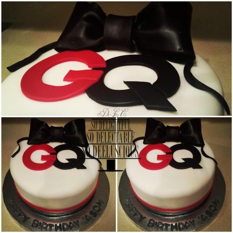 Deeluscious Cakes Gq Cake Bowtie Cake Bowtie Bow Tie Cake Bow Tie Cake Birthday Cake Gq Magazine Cake Themed Cakes Cake Bow Tie Cake