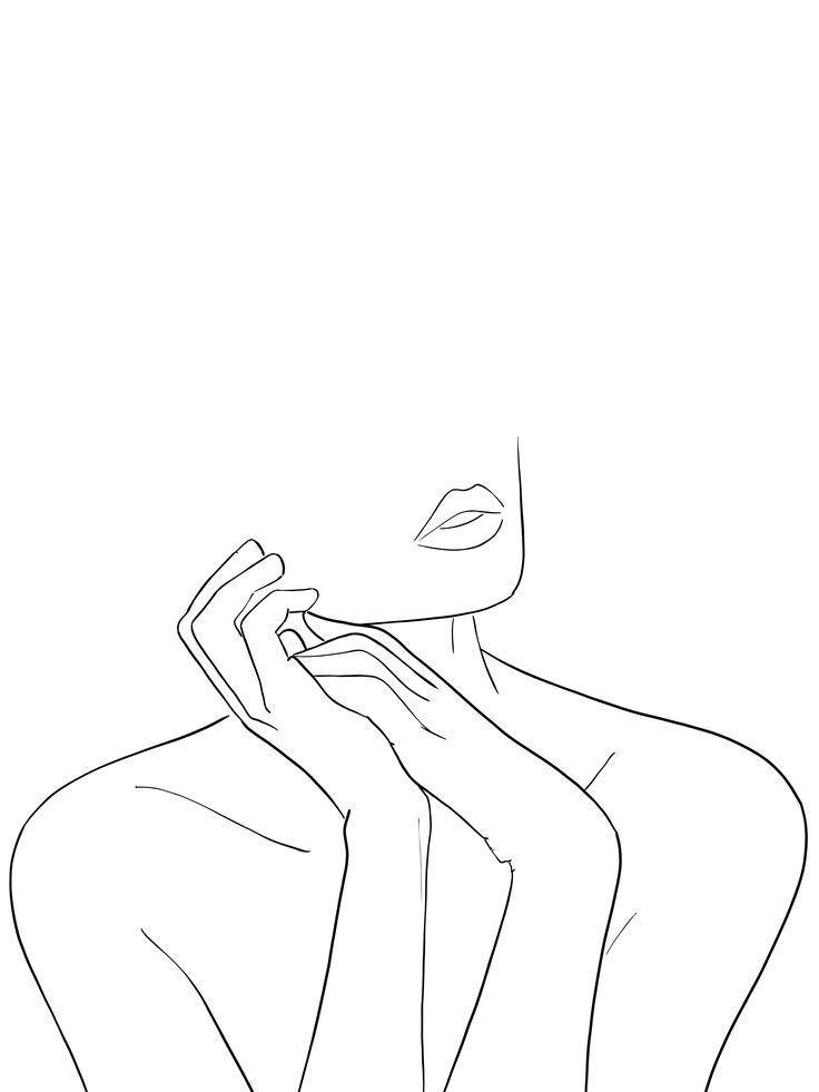 Photo of Dessin au trait femme mains – #line #hands #woman