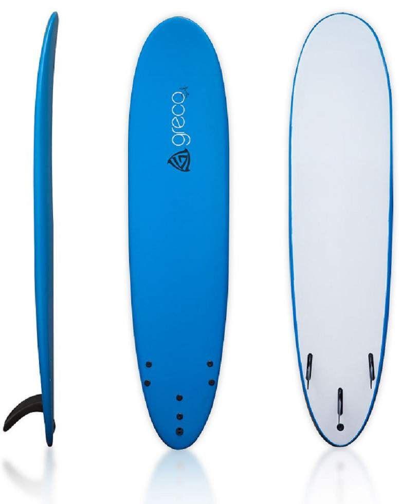 8 Performance Soft Top Foamboard Long Surfboard Foam Longboard Funboard By Greco Surf